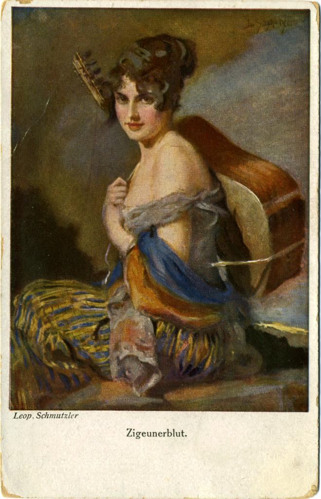 Zigeunerin gemälde